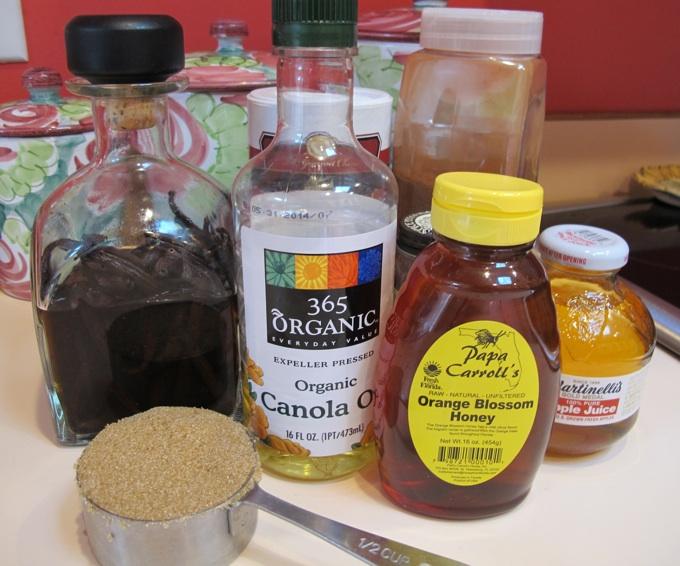 Healthy granola ingredients from SpatulaQueens.com
