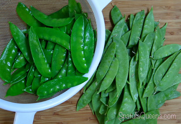Asian Slaw Recipe - blanched snow peas-2