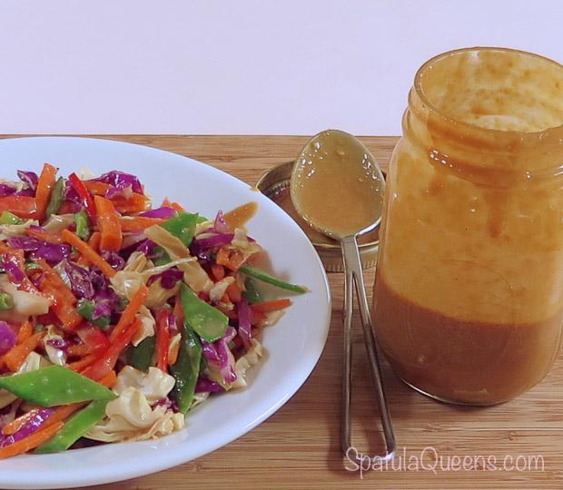 Asian Slaw Recipe - peanut ginger dressing-2