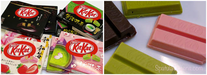 Assorted Kit Kats from the Narita Airport