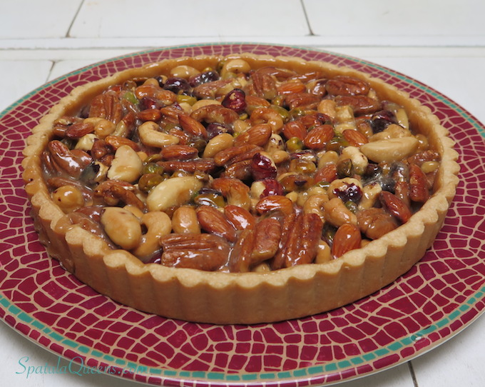 Caramel Nut Tart SpatulaQueens.com