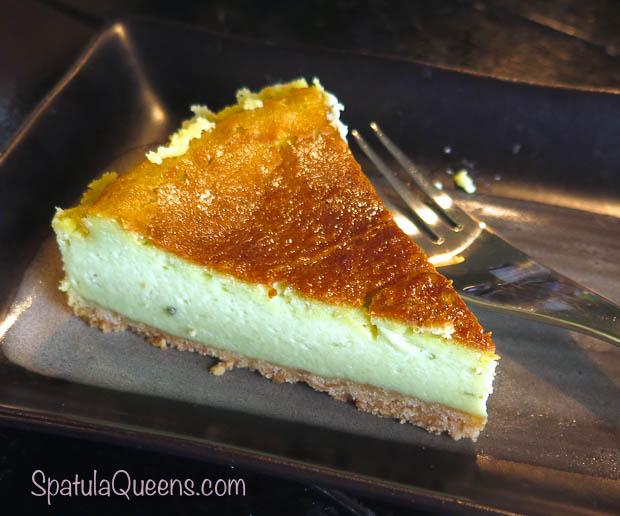 Cheesecake made with Ashitaba, Tomorrow Leaf