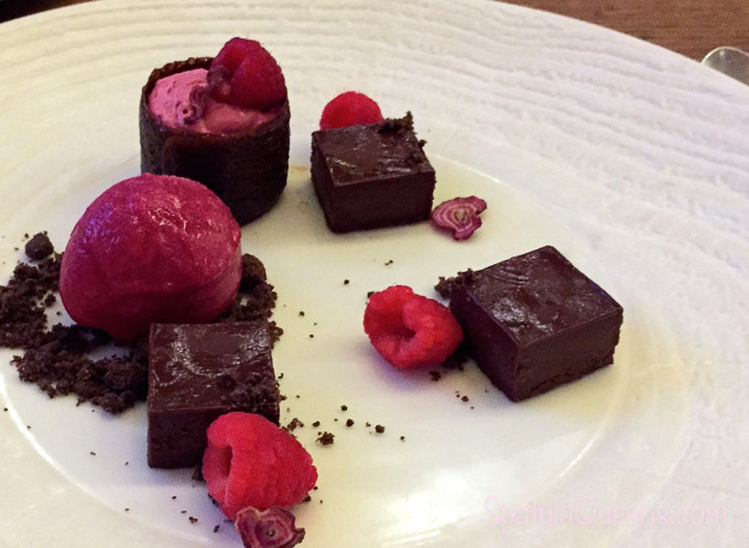 Chocolate, raspberry sorbet and beet root mousse - Road Trip South Africa