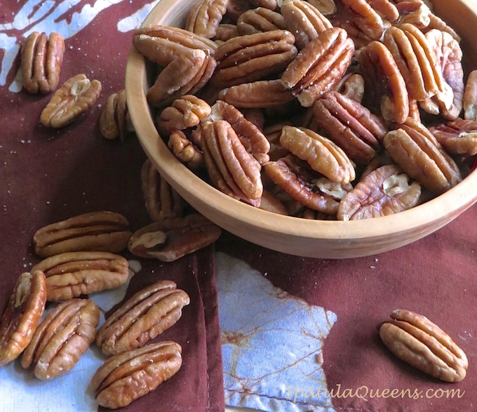 Crunchy toasted pecans
