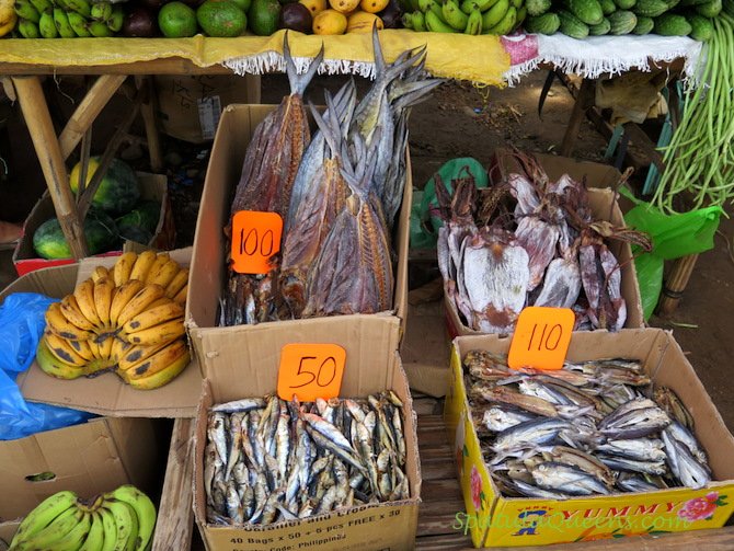 Dried fish and squid - Malatapay Market