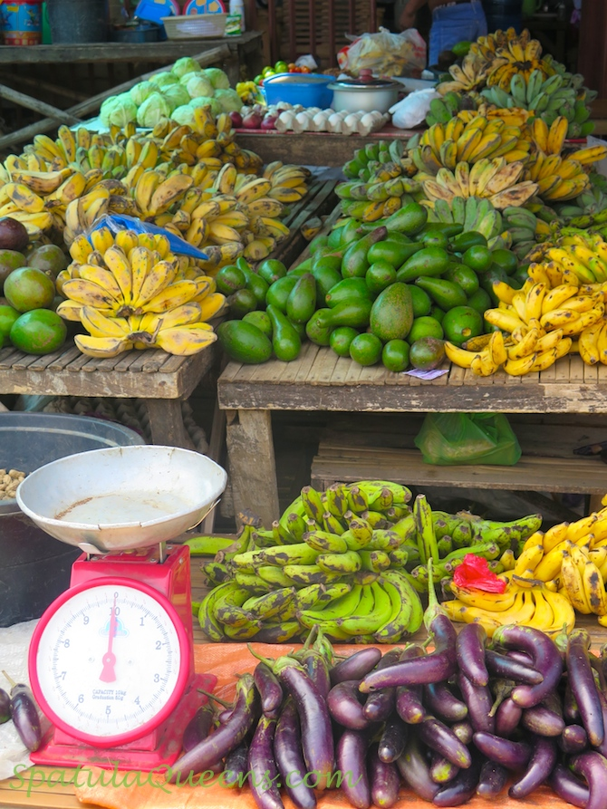 Fruits and vegetable stall at Malatapay Market