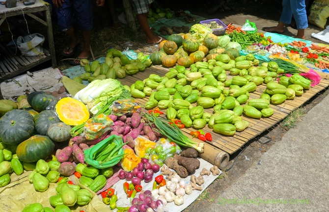 Fruits and vegetables at Malatapay Market