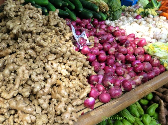 Ginger, onions, garlic Malatapay Market