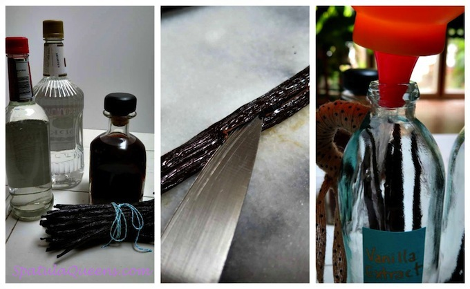 Homemade Vanilla Extract - steps