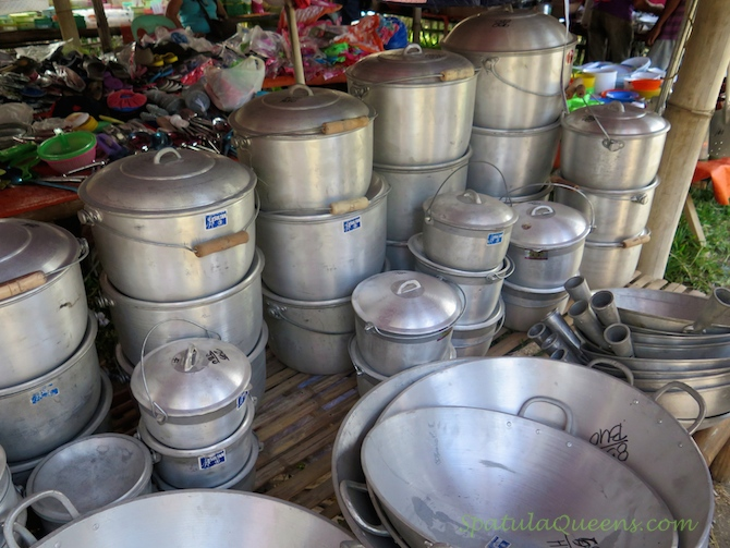 Housewares stall at Malatapay Market