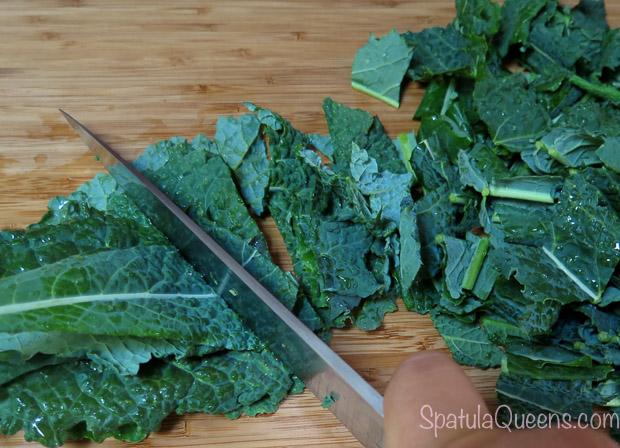 Quick Kale Salad prep