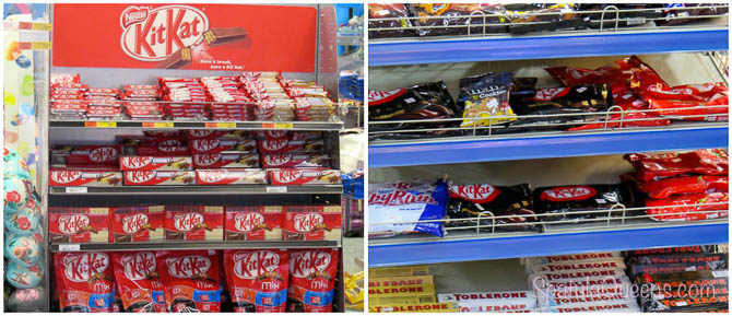Kit Kats around the world, Scotland and Manila
