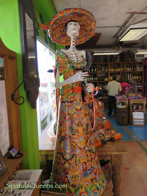 Road Trip Mexico: La Catrina greets us at the Pink Store in Palomas