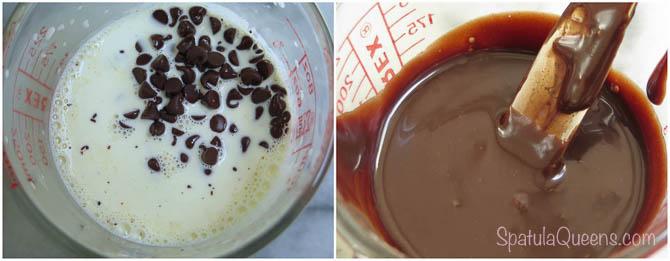 Chocolate + cream = ganache!