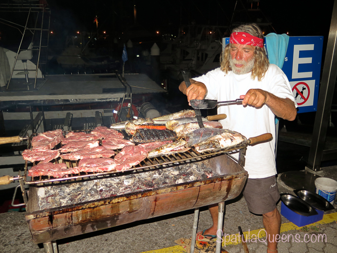Road Trip: Azores - Norberto at the grill at his weekly cookout