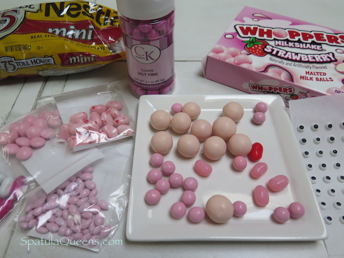 PInk Candy for Funny Bunny cupcake instructions