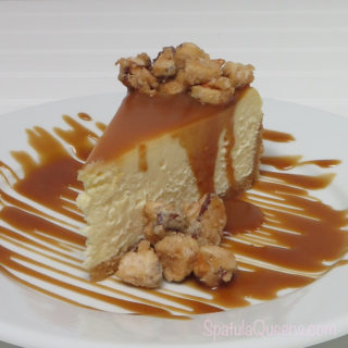 Cheesecake with Candied Brazil Nuts and Sea Salt Caramel