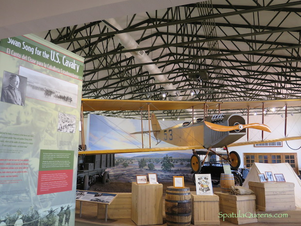 Replica of JN-3 airplane at Pancho Villa State Park museum