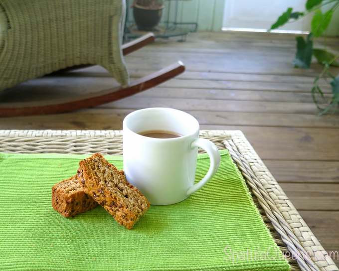 Coffee and Rusks - morning on the porch