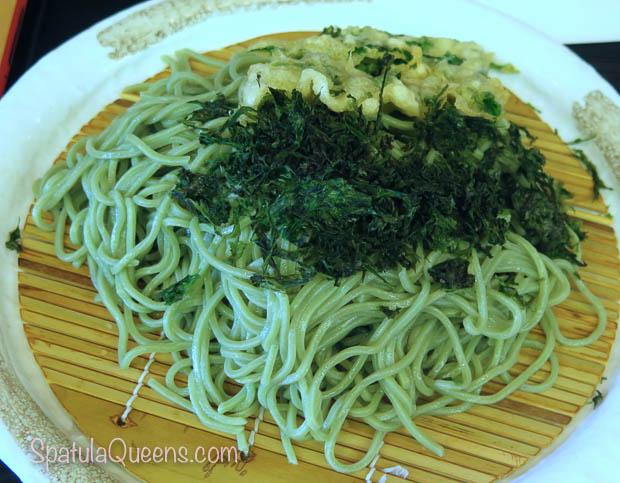 Soba made with Ashitaba, Tomorrow Leaf in Hachijojima