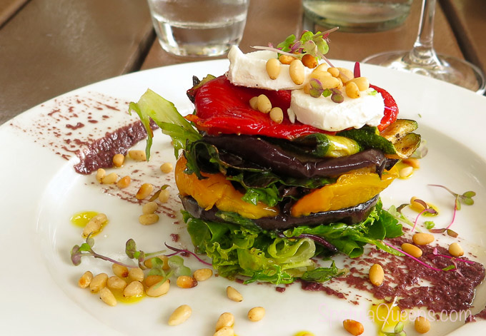 Roasted vegetable stack at the vineyard - Road Trip South Africa