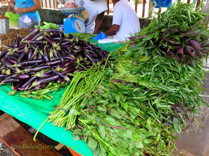 Vegetables at Malatapay Market